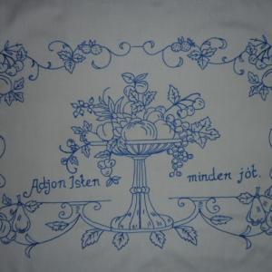 de12b8e945 Falikép, Falvédő - gyümölcsös mintával - szegetlen - 85x55 cm-Henriett