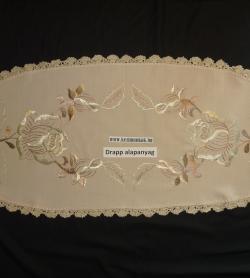 82846a950d Futó - magyaros kalocsai rózsás mintával - kézzel hímezve - drapp-Bársonyka